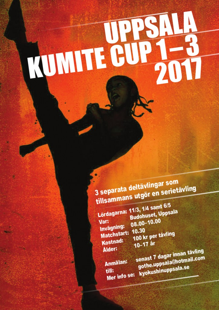 Uppsala Kumite Cup poster